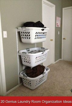 20 Genius Laundry Room Organization Ideas {393713} #laundry #storage #laundrystorage These laundry room organization ideas will help you save some space and organize all of your laundry stuff. Great hacks and tips to organize laundry room.