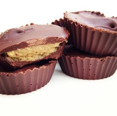 Paleo Nut Butter Cups!  1 & 1/2 cups of Enjoy Life Mini Chocolate Chips (Soy Free, Dairy Free) 1 cup of Sunflower Seed Butter (Sunbutter, Trader Joe's or any nut butter you prefer, I'm sure Almond Butter would be outstanding!) 1/2 cup of Coconut Oil (melted) 1/3 cup of Raw Honey 1 tsp. of Sea Salt 1/2 tsp. of Vanilla