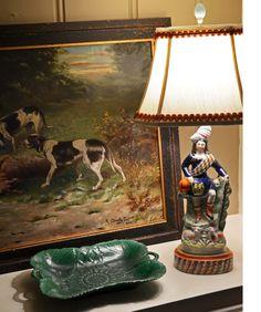 TartanTerrace: I Heart Lamps~Staffordshire figure lamp