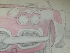 Learning Water Colours Car. Image 1