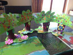 Spring trees with toilet carton