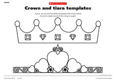 Birthday Tea Party Craft for girls & BOYS! Tiara's for the girls and Crowns for the boys to decorate!  http://education.scholastic.co.uk/resources/95870#