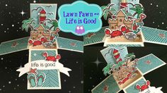 Lawn Fawn Life Is Good ~ Box Card Process Video - YouTube