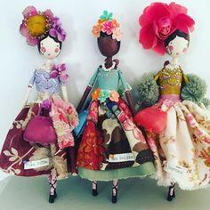 Miss Viola, Miss Nellie and Miss Dorcas #newhandbags #magpieandthewardrobe #themagpieandthewardrobe #sammckechnie #sammckechniedolls #englishdollmaker #