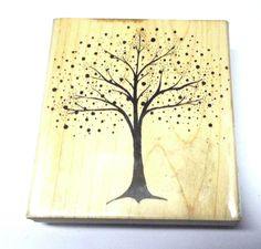 Penny Black Scenic tree Fantasy rubber stamp Wood mounted 3880K dots artistic  #PennyBlack #Trees