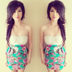 [ @ ] kimberlyx3you Skirt from @Femme Fataled get it at www.femmefataled.com & top from Forever 21
