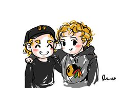 Kane and Panarin THIS IS ADORABLE