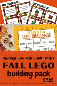 These seasonally themed LEGO challenges for kids will be sure to keep kids engaged all year long! The seasonal themes are further broken down into specific holiday activities including the fall holiday Thanksgiving. Kids are able to work easily and independently through each activity using their creativity to guide them. If you are looking for seasonally appropriate activities for your little builder, look no further! Great for at home, in the classroom, or on the go!