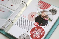 My creative corner: December Daily - Days 4 & 5 Christmas Mini Albums, Christmas Journal, Christmas Scrapbook, Christmas Minis, Christmas Projects, December Daily, Daily Day, Scrapbooking Layouts, Project Life