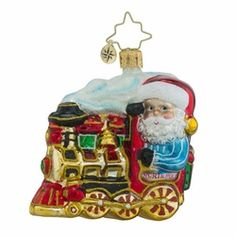 North Pole Express Little Gem Ornament by Christopher Radko