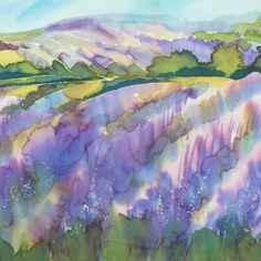 wow! what a lovely painting on silk! Bloomingsilk / Silkscapes