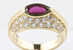 Oscar Heyman Brothers Ruby and Diamond Ring | From a unique collection of vintage fashion rings at http://www.1stdibs.com/jewelry/rings/fashion-rings/