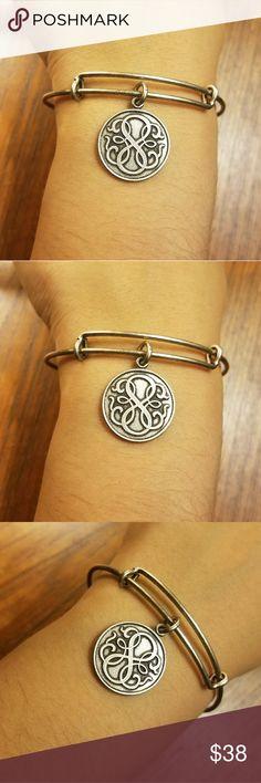*RETIRED* Alex & Ani Silver Path of Life Bangle *RETIRED* Alex & Ani Rafaelian Silver Path of Life Bracelet. Beautiful! Adjustable. Alex and Ani Jewelry Bracelets