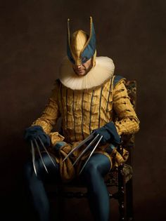 Top 19 des photos de Super Héros version peinture flamande par le Photographe Sacha Goldberger - http://sachabada.com/portfolio/index.php/