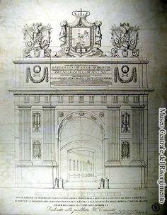 Porta S.Agostino , una delle porte della città, come era