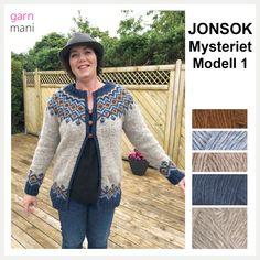 JONSOK GARNPAKKE Modell 1 - Garnmani.no - Spesialist på islandsk garn Knit Jacket, Knit Cardigan, Vest, Norwegian Knitting, Knit Sweaters, Kappa, Ravelry, Pullover, Coats