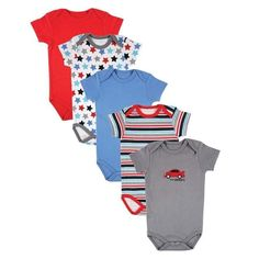Summer 5 pcs lot Baby Clothes Baby Romper O-Neck 100%Cotton Cute Styles  Newborn Baby Boys girls Clothes Baby Overall fc722e95ca