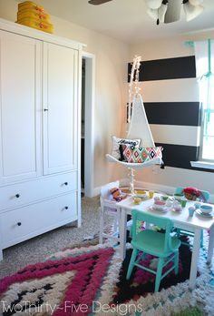 Ikea Bunk Bed Hack - Two Thirty-Five Designs - this entire room is totally adorable! Ikea Bunk Bed Hack, Sweet Home Design, Girls Room Design, Rustic Room, Little Girl Rooms, Girls Bedroom, Bedroom Black, Kid Spaces, Bunk Beds