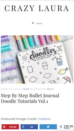 Check out these awesome step by step bullet journal doodle ideas! - Step By Step Bullet Journal Doodle Tutorials Bullet Journal Inspo, Doodle Bullet Journal, February Bullet Journal, Bullet Journal Notebook, Bullet Journal Aesthetic, Bullet Journal Layout, Book Journal, Bullet Journals, Bullet Journal Topics