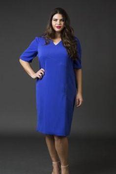 Shift Crepe Dress- Royal Blue