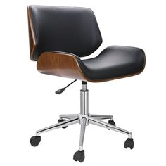 Shop for Porthos Home Dove Wood and Faux-leather Office Chair. Get free delivery at Overstock.com - Your Online Office Furniture Store! Get 5% in rewards with Club O!
