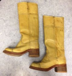 VINTAGE FRYE STYLE BANANA RIDING CAMPUS BOOTS ANTHROPOLOGIE FREE PEOPLE