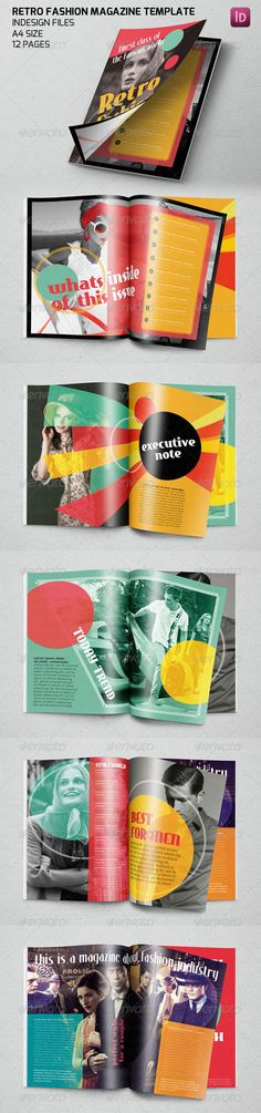 Fashion Magazine Template That Totally Define Retro Cool • Only available here ➝ http://graphicriver.net/item/retro-fashion-magazine-template/7628983?ref=pxcr