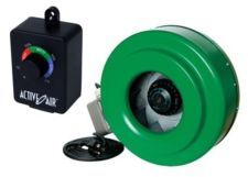 """Active Air 8 inch In-Line Fan Inline Duct Blower Hydrofarm & Speed Controller 8"""""""