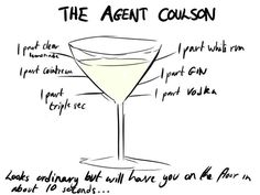 Agent Coulson Cocktail...this looks poisonous