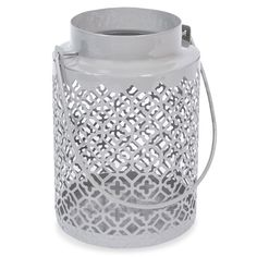 COCACHAMBA metal lantern, grey, H 15 cm