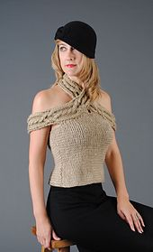 Ravelry: Criss Cross Cable Halter Top pattern by Twisted Angle