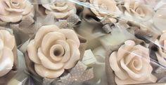 Rosa in ceramica diffusore d'ambiente