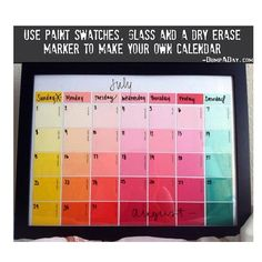 .@do_or_diy | Get paint samples from Home Depot, Paint Stores, etc. Buy or use an old frame... | Webstagram - the best Instagram viewer