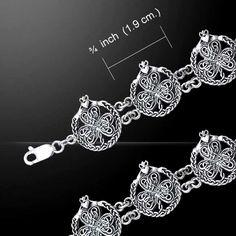 Celtic Knotwork Shamrock & Claddagh Silver Pendant TBG767