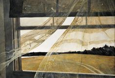 Painting: Wind from the Sea, Andrew Wyeth. 1947. (Learn more.