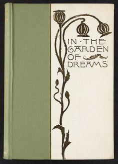 """Nouveau Book Cover ~ """"In the Garden of Dreams""""."""