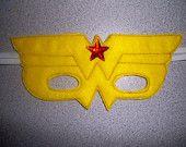Wonder Woman felt mask.