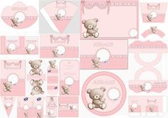 Osita with Baby: Kit for Free Print. Baby Shawer, Baby Kit, Imprimibles Baby Shower, Teddy Bear Party, Baby Girl Cards, Bear Birthday, Baby Scrapbook, Baby Party, Kids And Parenting