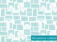 365 Patterns: Happy Mail Day by Alma Loveland of Ollibird