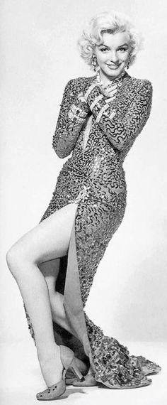 Marilyn in a publicity photo for Gentlemen Prefer Blondes, 1953.