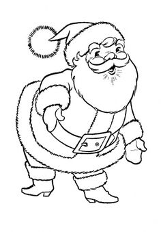 Santa Claus 2 Free printable coloring pages for kids Coloring