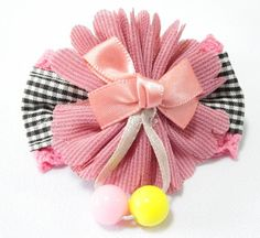 Ribbon Flower Hair Clip Light Purple. 6cm (L) by 3cm (H). Ideal for children from 1 1/2 year old onwards. 1 for $2.00. Like us at https://www.facebook.com/pages/ChucklingBaby/675475065907287.