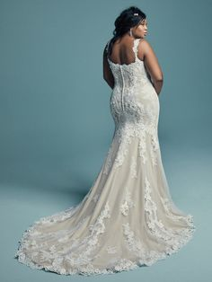 Maggie Sottero | Lace Fit and Flare Wedding Dress
