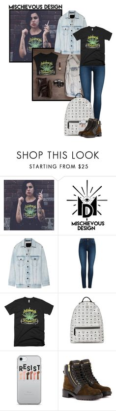 """Mischievous Design (59)"" by irresistible-livingdeadgirl ❤ liked on Polyvore featuring Alexander Wang, Pieces, MCM, Balmain, StreetStyle, denim, AlexanderWang, balmain and mcm"