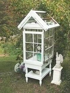 diy garden decor | DIY Garden Decor / ...Shabby Chic Garden Conservatory