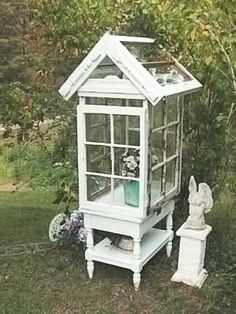 diy garden decor | DIY Garden Decor / ...Shabby Chic Garden Conservatory