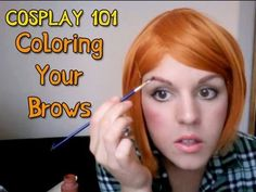 Cosplay Coloring Your Eyebrows *Note: Don't use the paint method unless it's bodypaint. Normal paint is unsafe for the skin, and seriously should not be used by the face or eyes particularly*