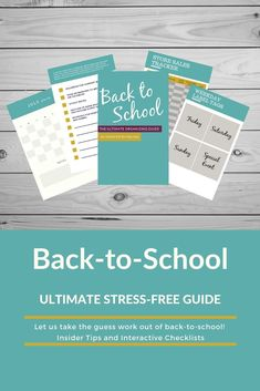 Perfect guide for getting organized, for back-to-school. PDF Download   INCLUDED:  * Insider tips on managing your calendar, clothes and supply shopping, and creating a productive and manageable homework station * Blank Calendar Pages for scheduling  * School Supply Tracker * Store Sales Tracker * Clothing Shopping List Tracker  * Weekday Label Tags  * Space Planning Pages  * Resource lists to even MORE information Back To School Organization, Back To School Hacks, School Ideas, Organizing Tips, Organization Hacks, Blank Calendar Pages, Homework Station, Stress Free, Getting Organized