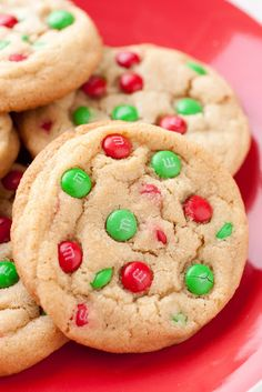 Thick, soft and chewy M cookies.  Perfect for the holiday cookie tray