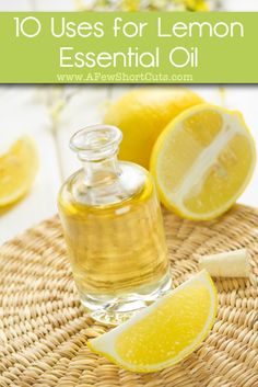 10 uses for lemon essential oil for around your house and for your health! This popular essential oil can be used for so many things!